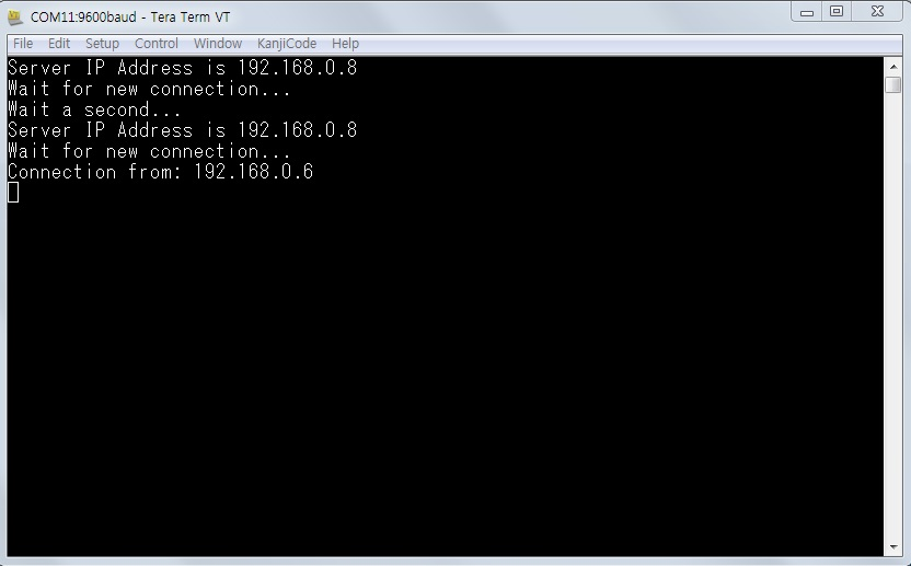 Picture of Run Test Software and Check Serial Port Message