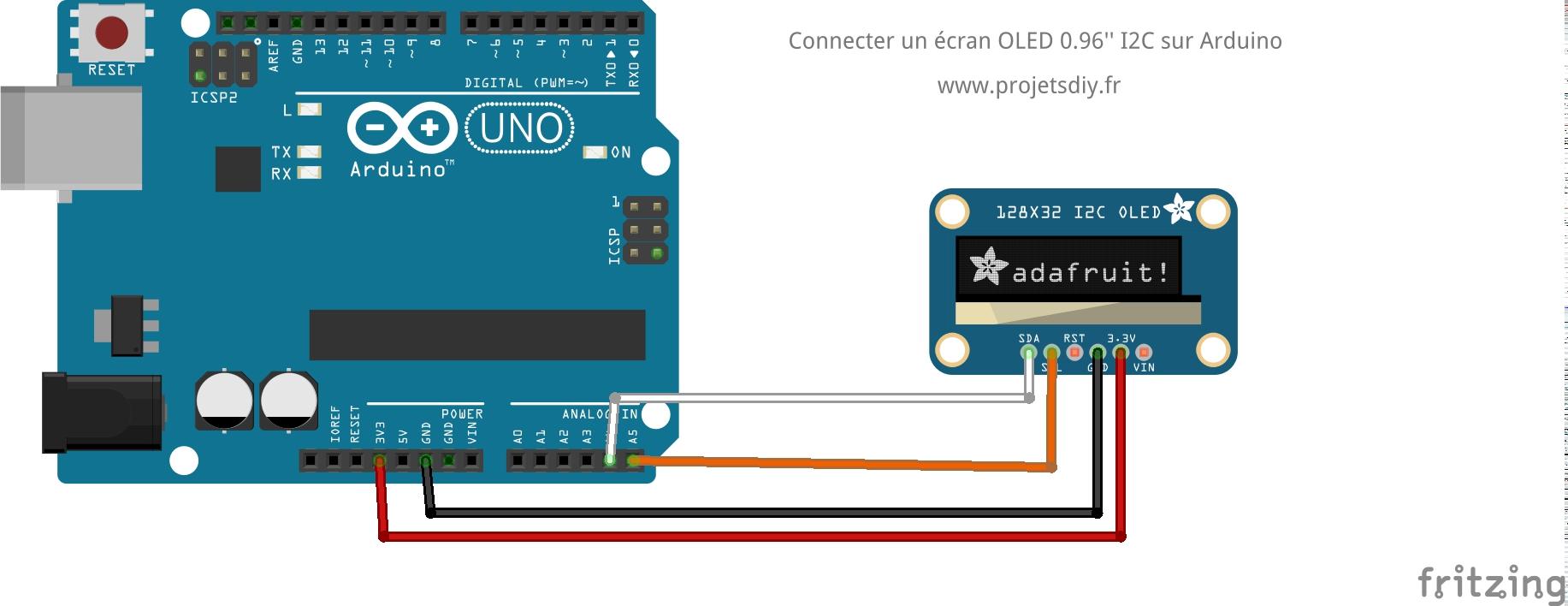 Picture of Câblage De L'écran OLED
