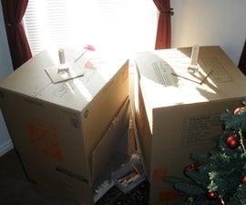 Cardboard Fort With Solar Bottle Bulb