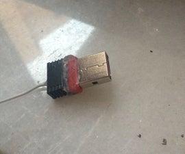 Adding antenna to a mini Wi-Fi receiver