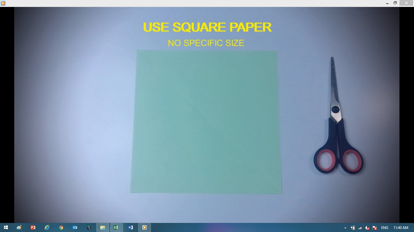 Picture of Bend Square Paper As Follow