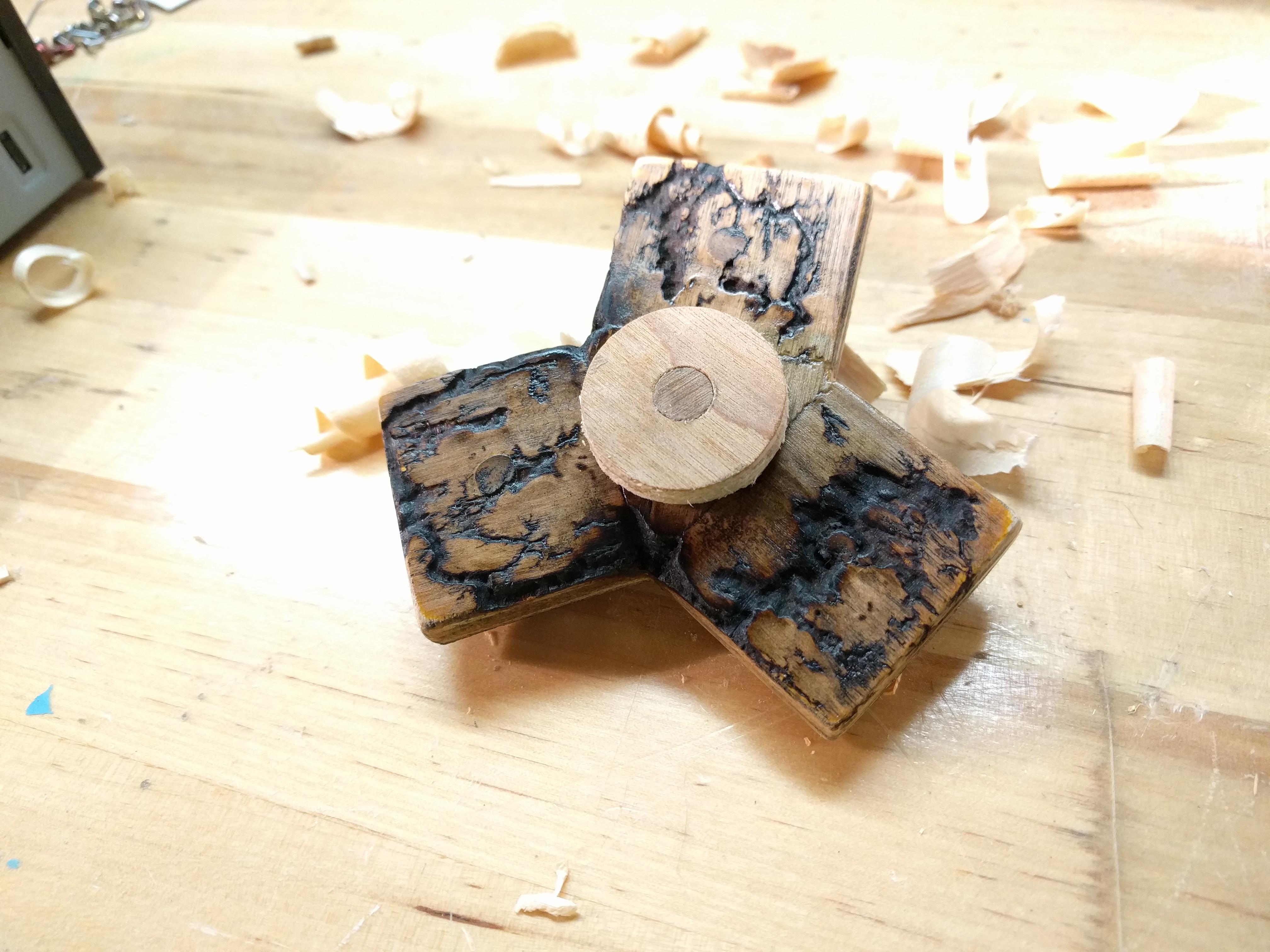 Picture of Lichtenberg Figure Wooden Fidget Spinner