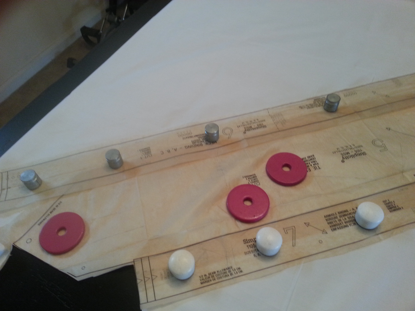 Picture of Securing the Pattern: Pins OR Weights?