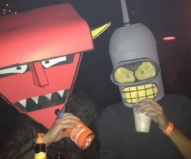 Bender and Robot Devil from Futurama