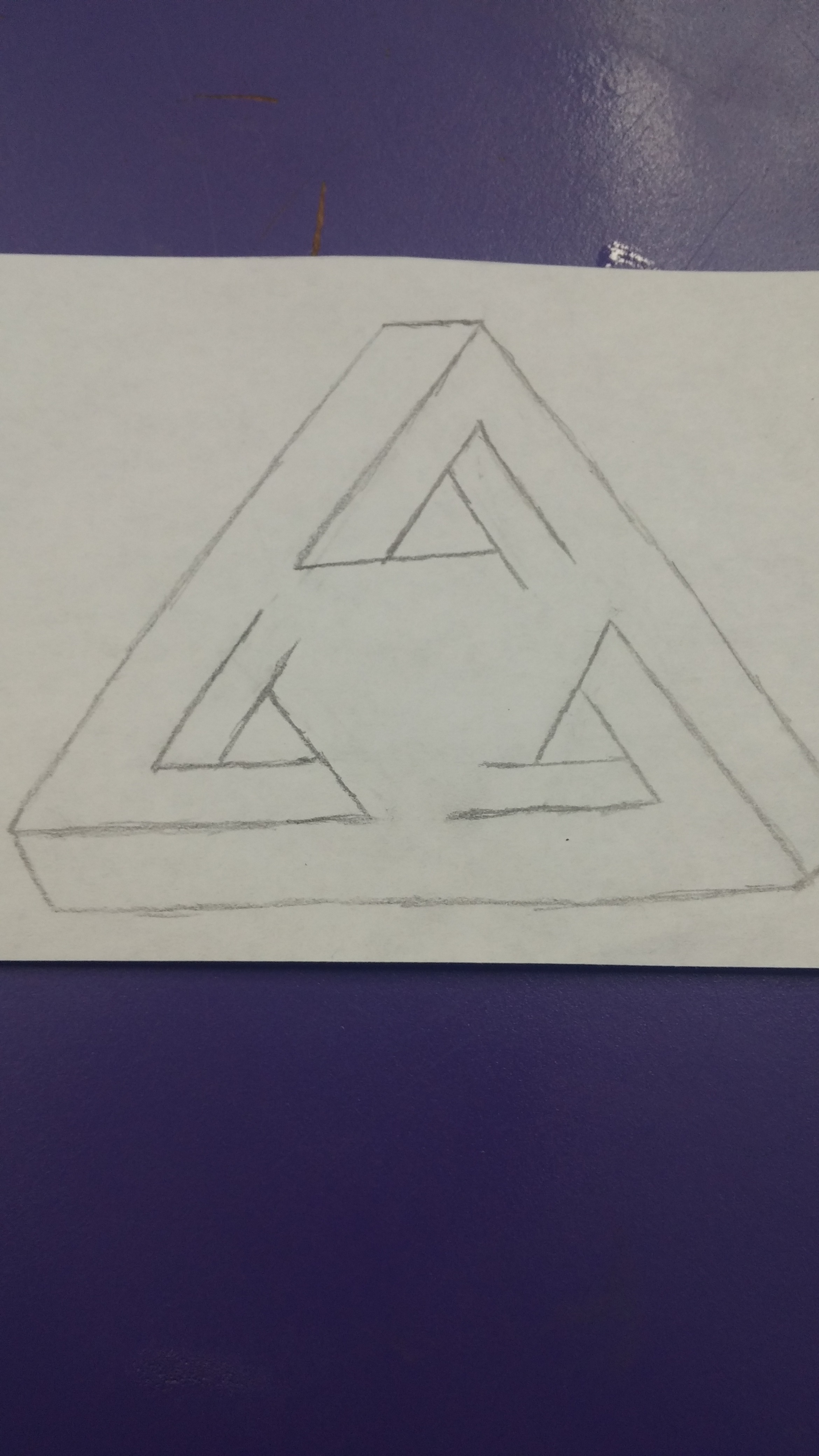 Picture of Outline to Second Triangle