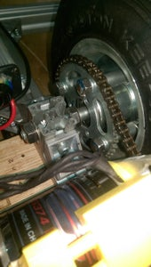 Drive Sprocket and Rear Wheel and Motor