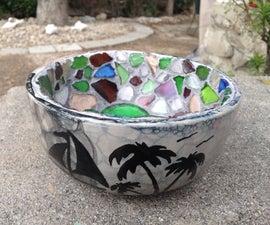Sea Glass Mosaic Bowl