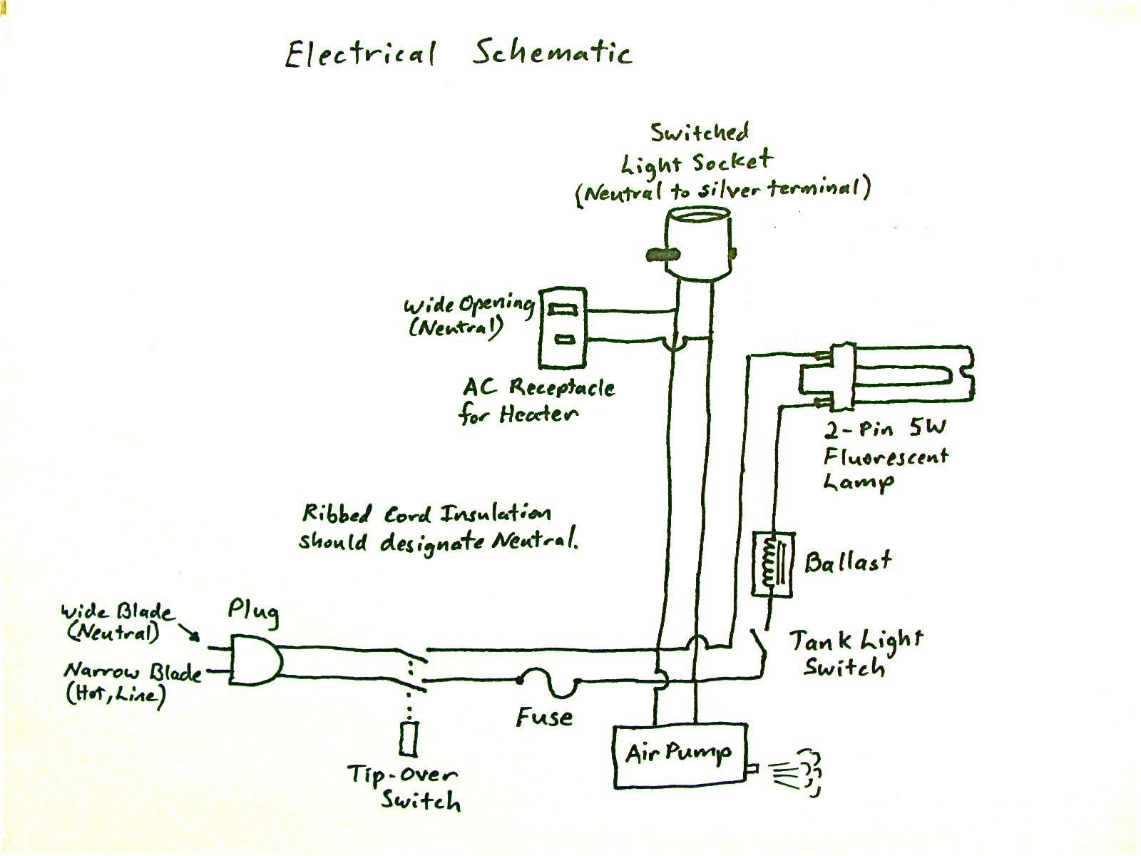 Picture of Electrical: Base, Heater Outlet, Lamp Socket, Fluorescent Lamp