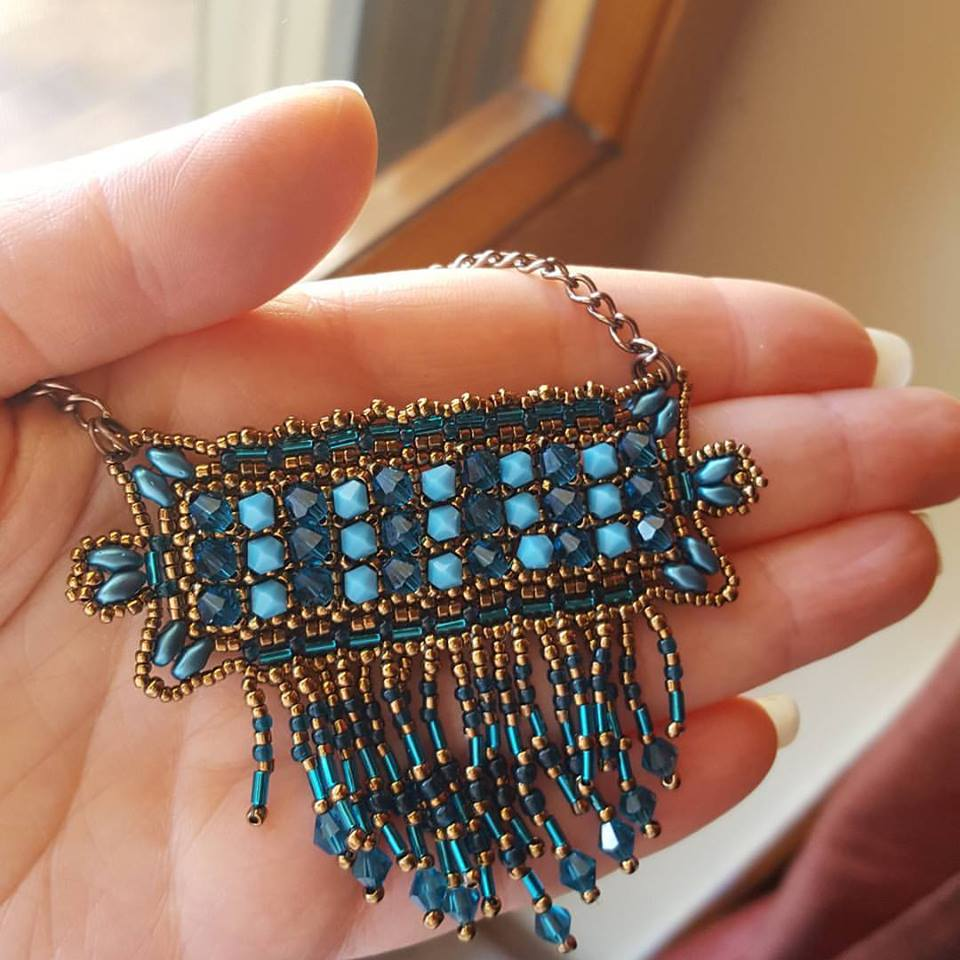Picture of ENGLISH DIY VIDEO TUTORIAL WEST PENDANT WITH BEADS