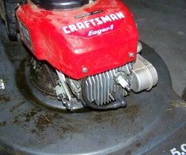 Mower Kicks Back--Replace the Flywheel Key