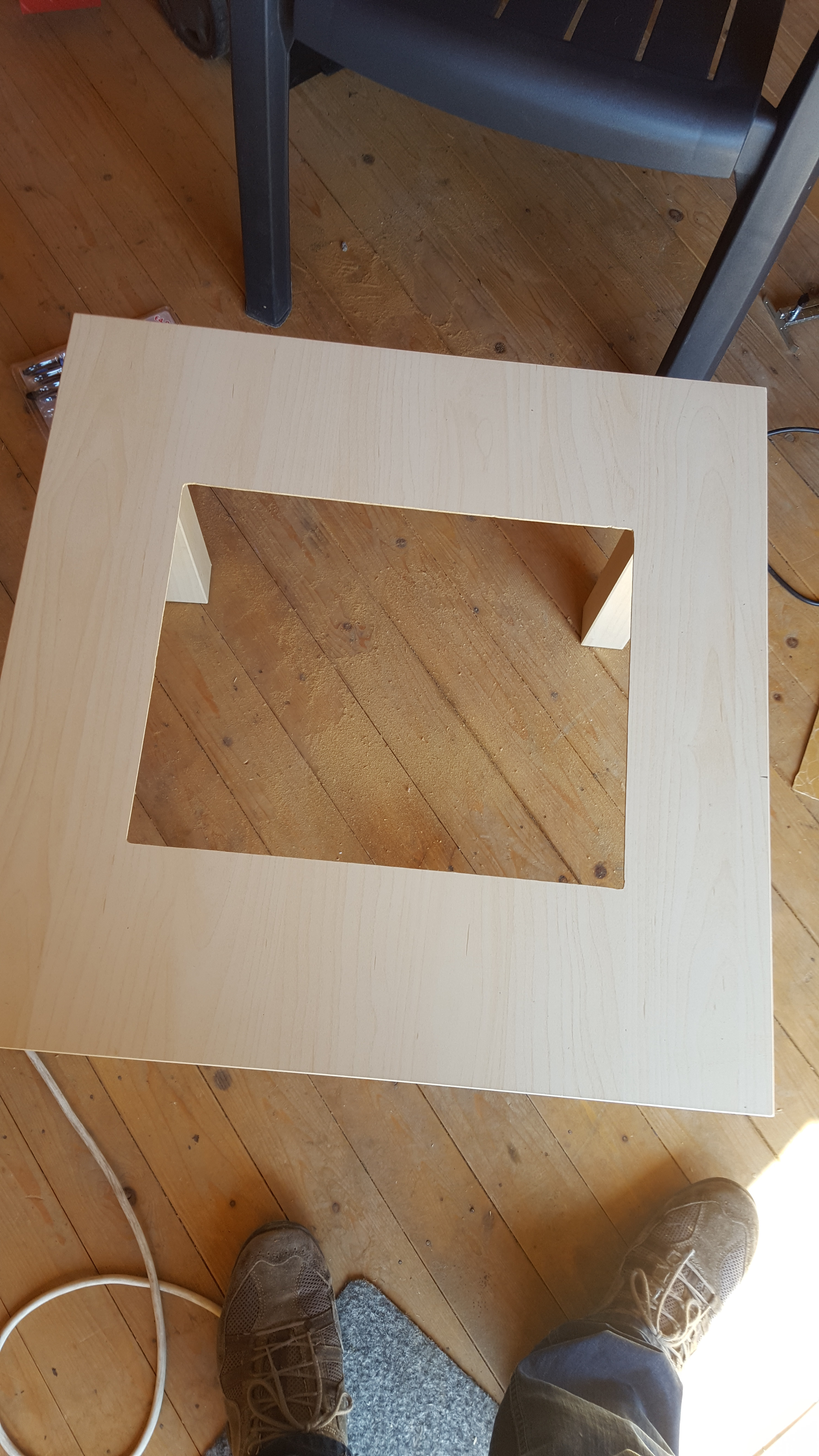 Picture of Cut the Area for Your Display