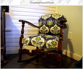 Rocking Chair Reupholster and Refinish