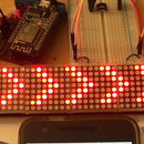 Control LED Board by Phone With NodeMCU ,ESP8266 and MAX7219