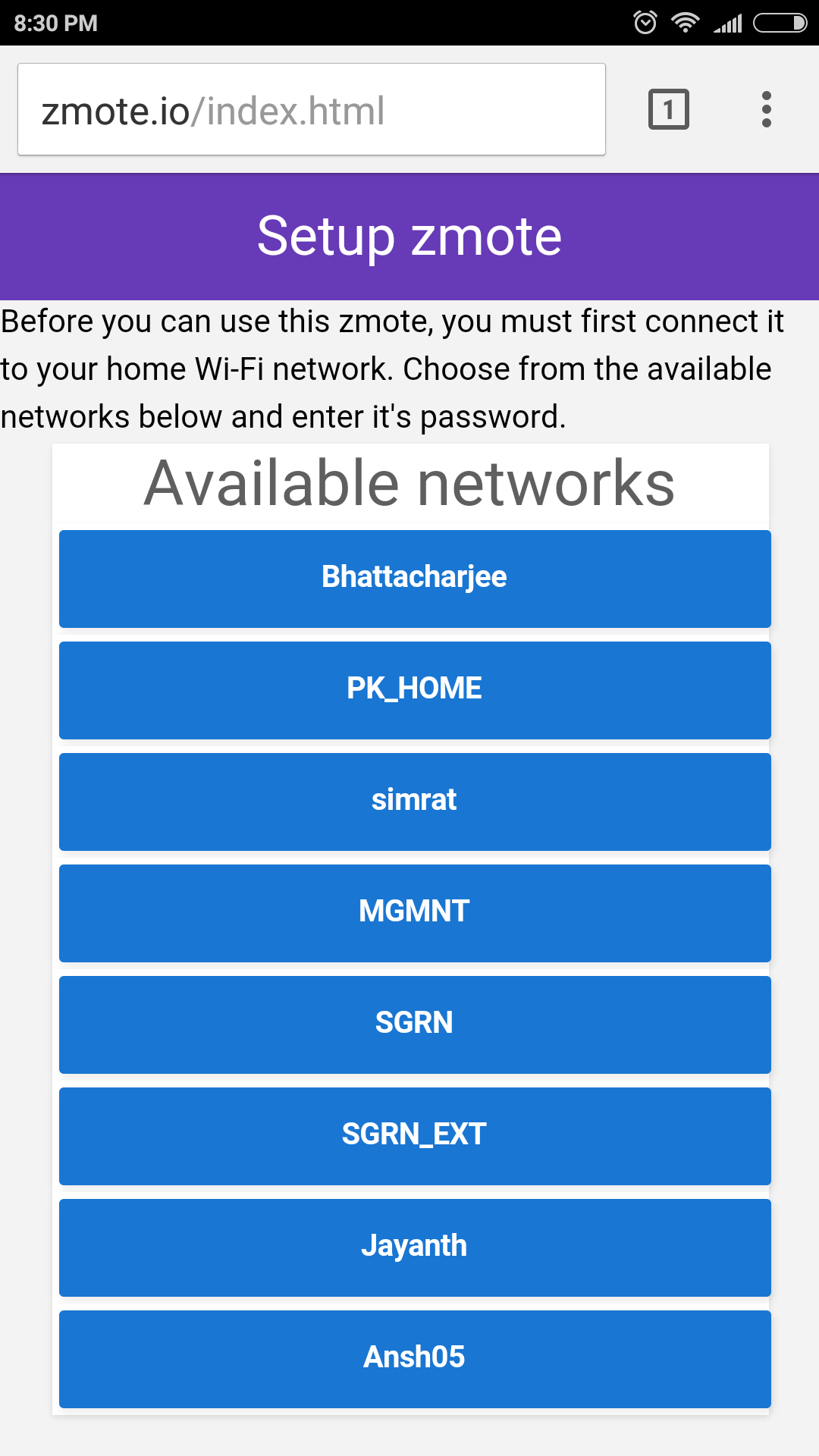 Picture of Select Your Home Wi-Fi Network