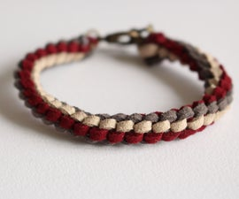 Knotted Suede Lace Bracelet