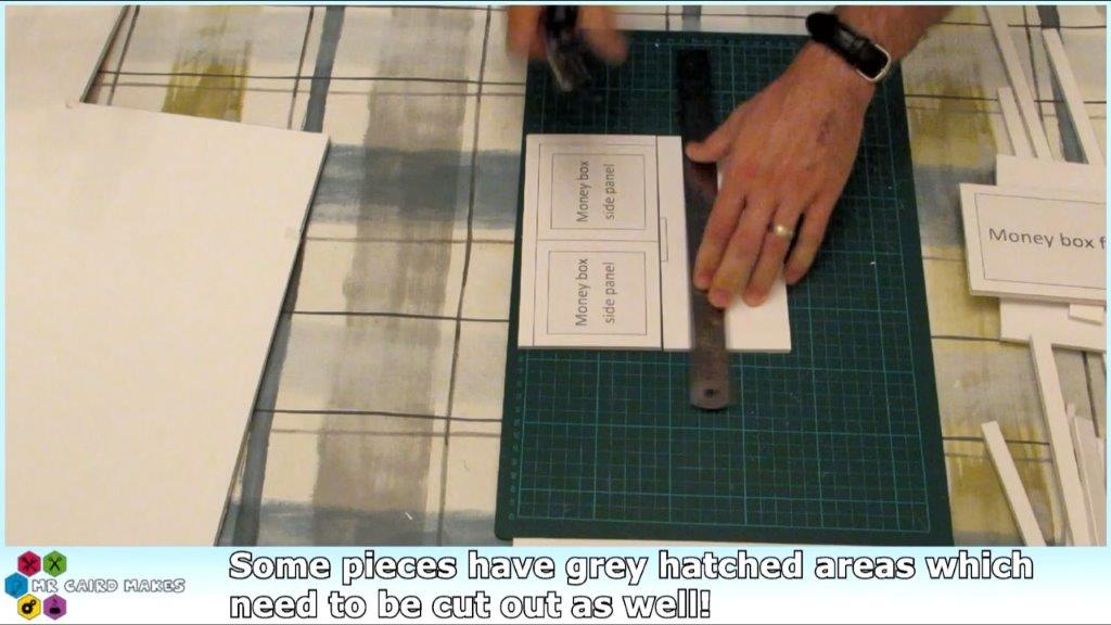 Picture of Cutting the Foamboard Pieces