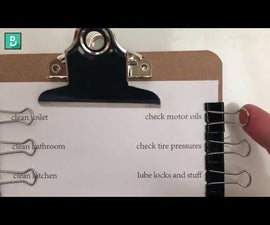 Binder Clip Checklist, Reusable & Pen-free