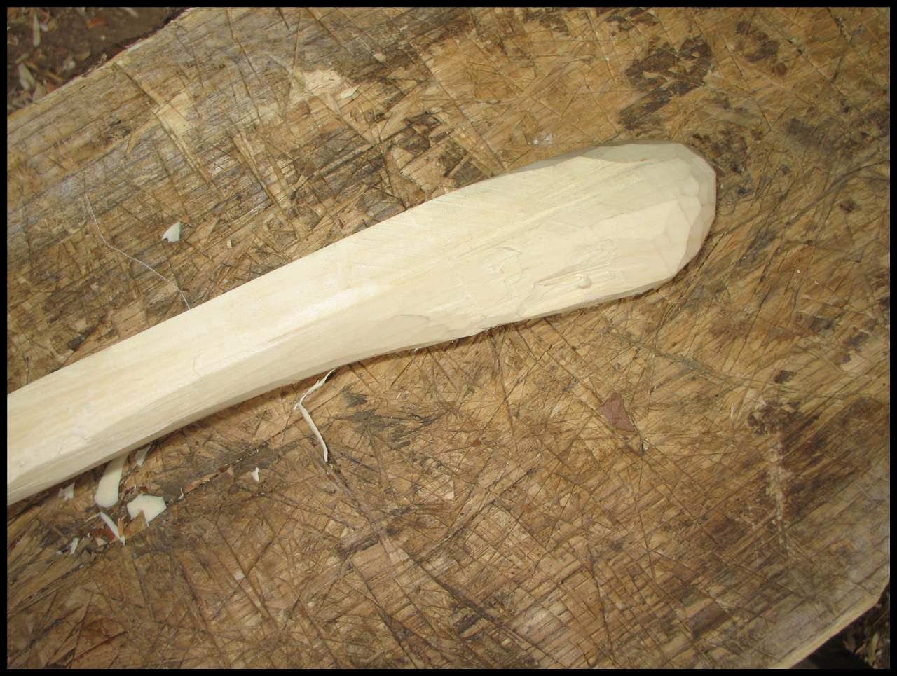 Picture of Using Knifes to Finish the Shaping.