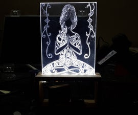Yoga Girl - Led Lamp