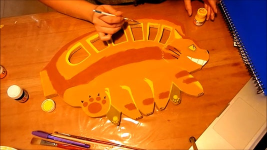 Draw and Cut & Paint Your Totoro Characters