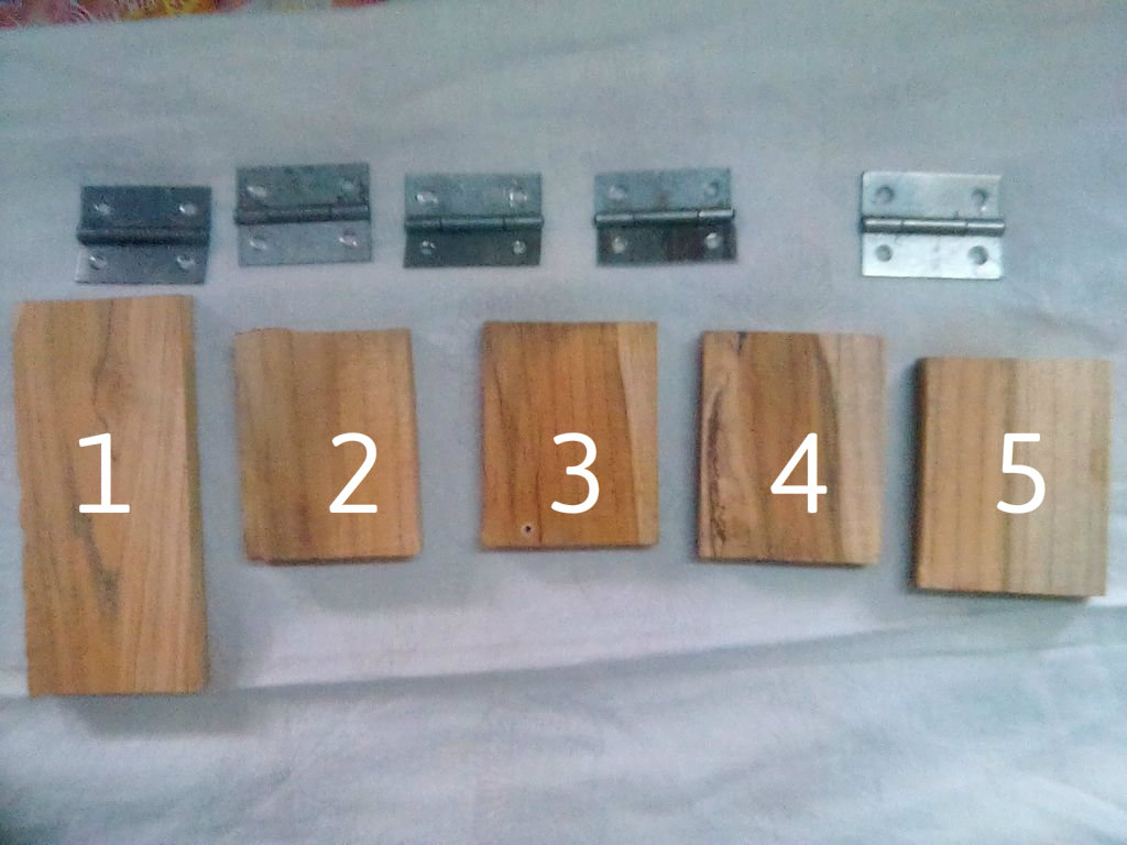 Picture of I MAKE AN SMALL MODEL ONLY.YOU CAN ALSO MAKE IT BIG.FIRSLY YOU NEED 2 TO 3 HINGE & 5 PIECE OF WOOD AS SHON IN PICTURE