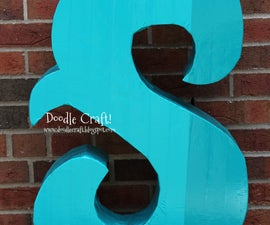 Giant Monogram Prop made with Duct Tape and Cardboard!