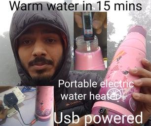 DIY  ELECTRIC HEATED WATER BOTTLE(USB)