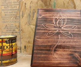 Copper Inlayed Wood Plaque