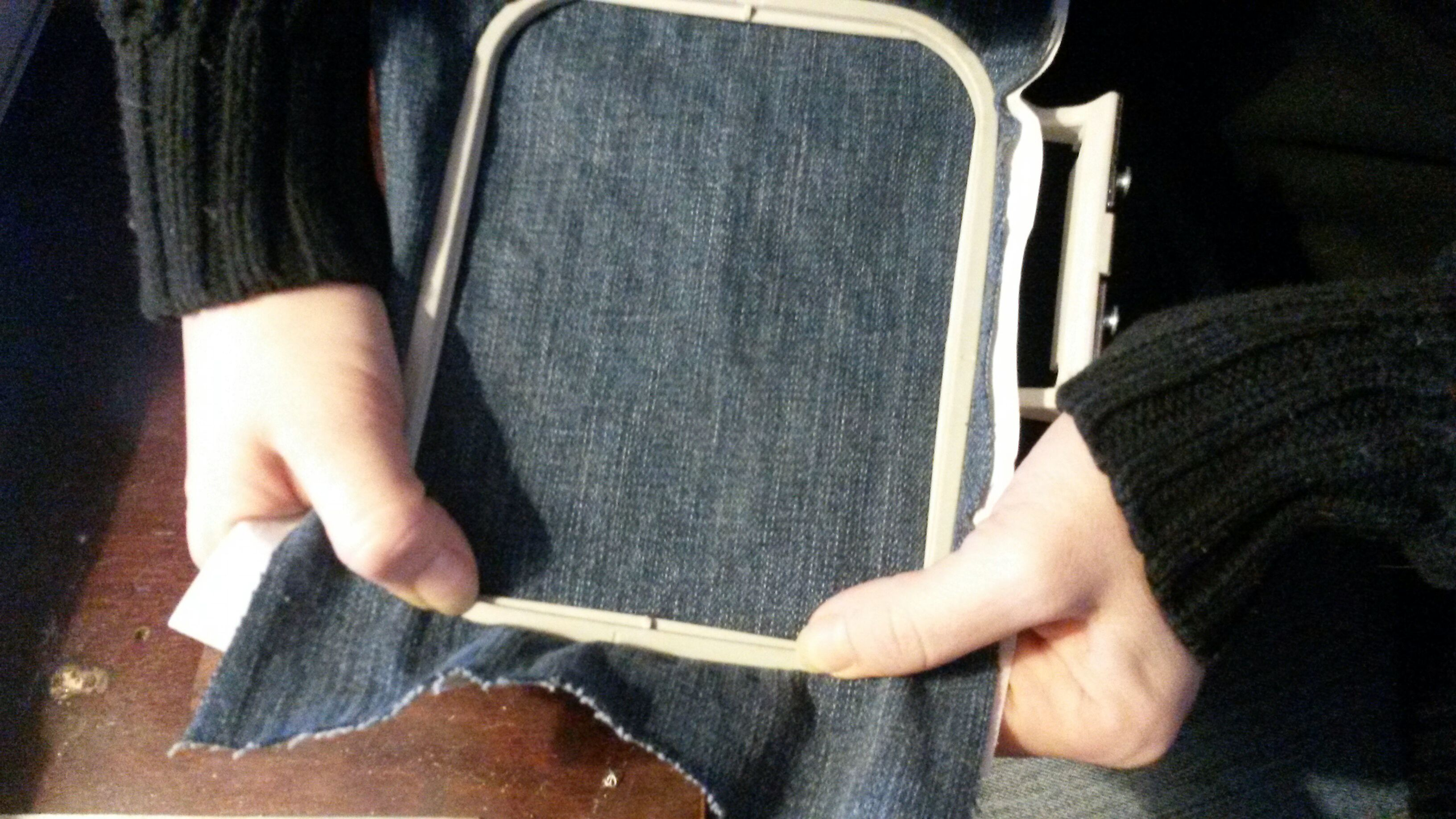 Picture of Setting Up Embordering Hoop
