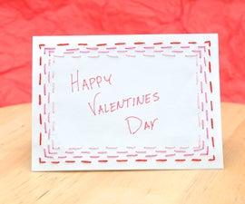 Stitched Border Valentine's Day Card