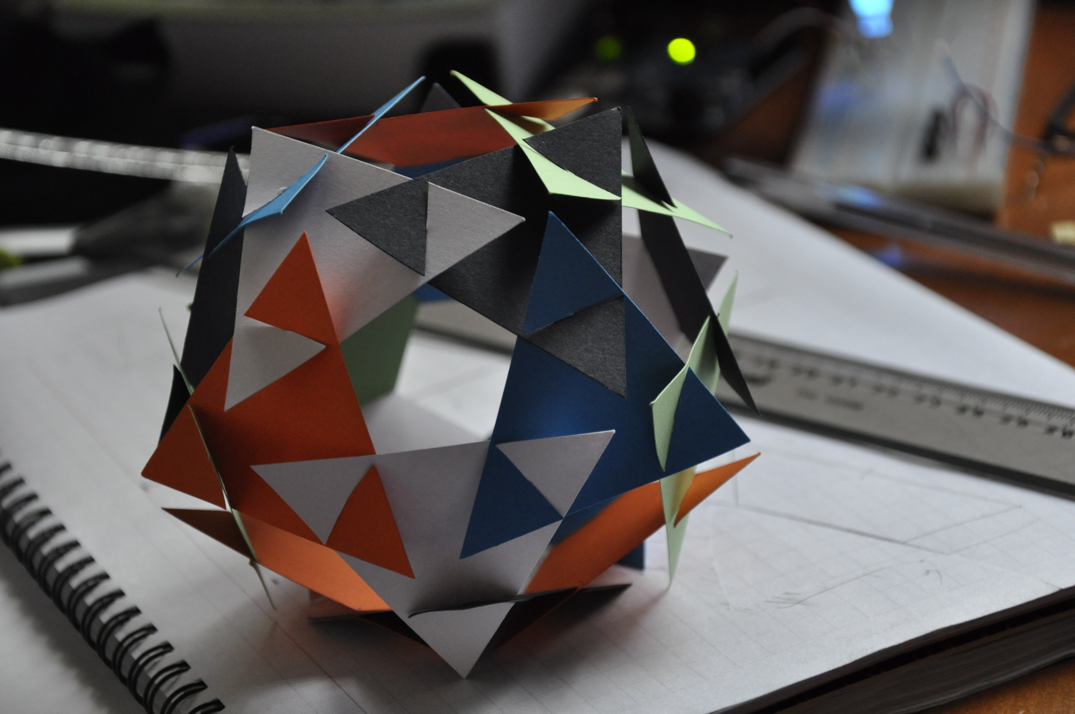 Picture of Modular Paper Dodecahedron