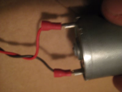 Wire Up the Motor and Battery Conector