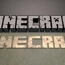 3D burned/carved wooden Minecraft logo