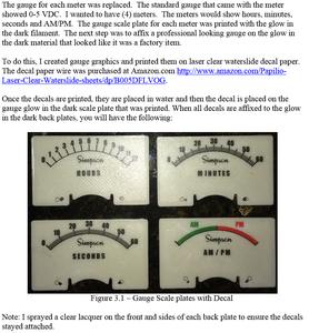 Meter Gauge Decals