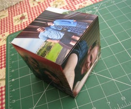 photo cube - frameless, cheap and easy!