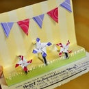 2 Step Pop-up Greeting Card: 4th of July