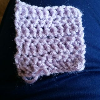 First Beginner Crochet Project: Single Crochet Square