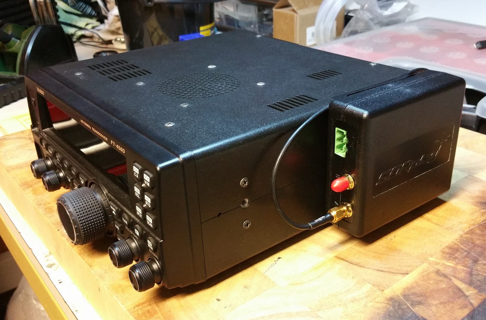 Picture of Fitting the LNA Board to the Yaesu FT-450D