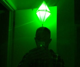 LED Light Up Sims PlumbBob Costume (That green pylon above their head)