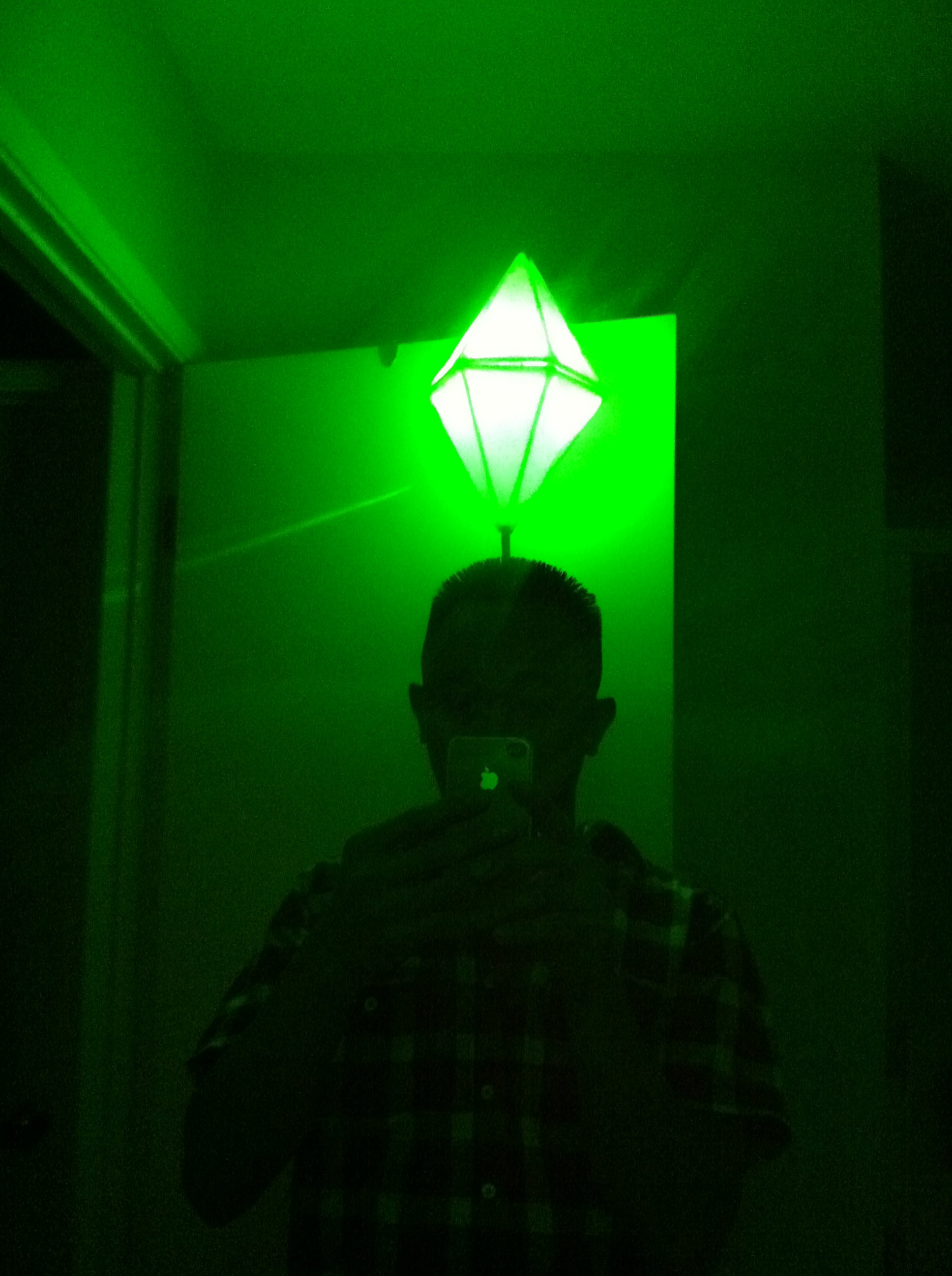 Led Light Up Sims Plumbbob Costume That Green Pylon Above Their Battery Fuse Box Melting Head 6 Steps
