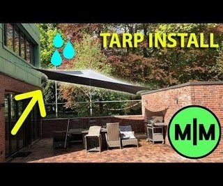 Low Incline Patio Tarp for Rain and Sun