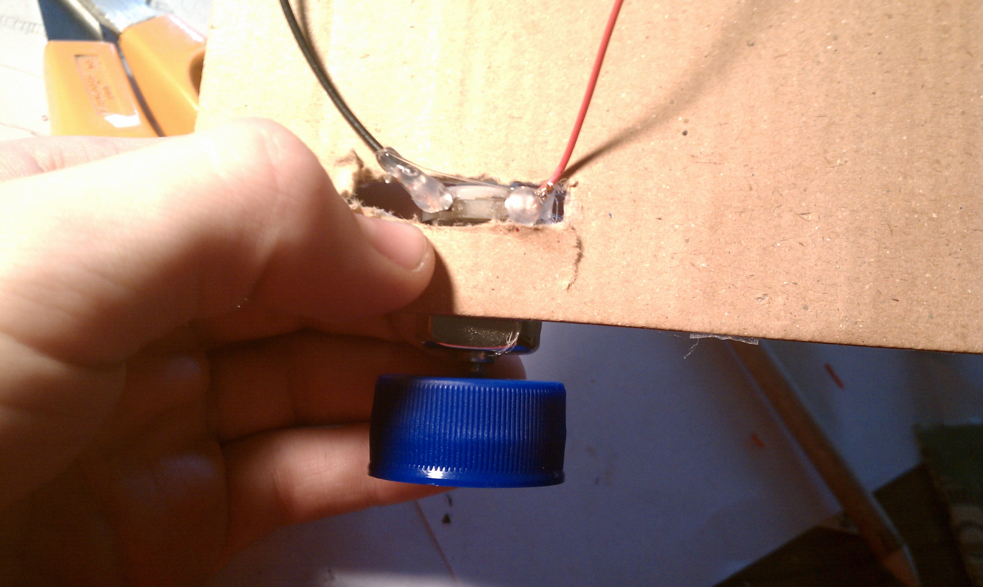 Picture of Attach the Motors to the Base