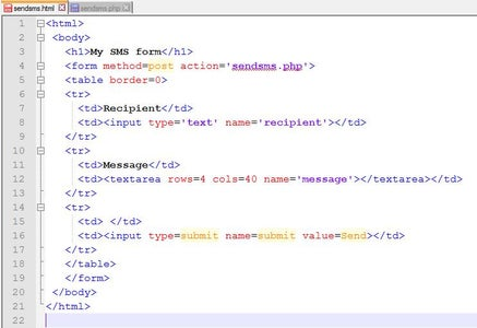 Configure Your Website and Create an SMS Sender Web Application