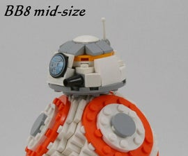 Mid-size BB8 With 257 Lego Parts