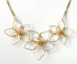 Wire Flower Necklace