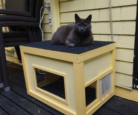 Heated Winter Cat Shelter and Seat