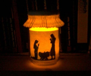 Christmas Light in a Jar