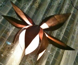 Lotus Pendant Lamp- Bent wood
