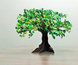 How to Make Paper Tree (bonsai)