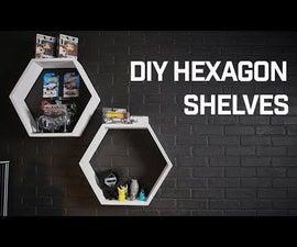 DIY Hexagon Display Shelves